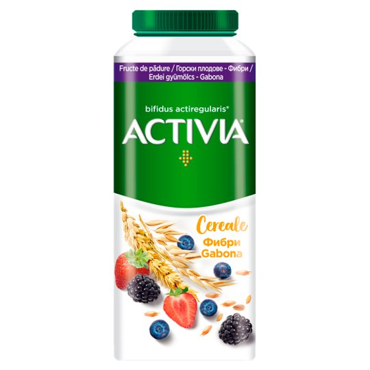 Danone Activia Low-Fat Forest Fruit Flavoured Yoghurt Drink with Live Cultures and Grain 320 g