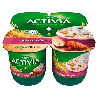 Danone Activia Muesli Yoghurt with Whole Grain Cereals and Live Cultures 4 x 125 g