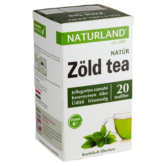 Naturland Életmód Unflavoured Green Tea 20 Tea Bags 30 g