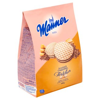 Manner Chocolate-Caramel Cream Filled Wafers 400 g