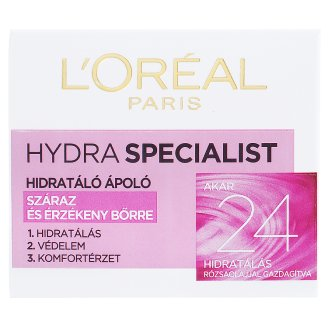 image 1 of L'Oréal Paris Hydra Specialist Moisturising Cream for Dry and Sensitive Skin 50 ml