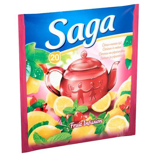 Saga Citrus-Mint Flavoured Fruit Tea 20 Tea Bags