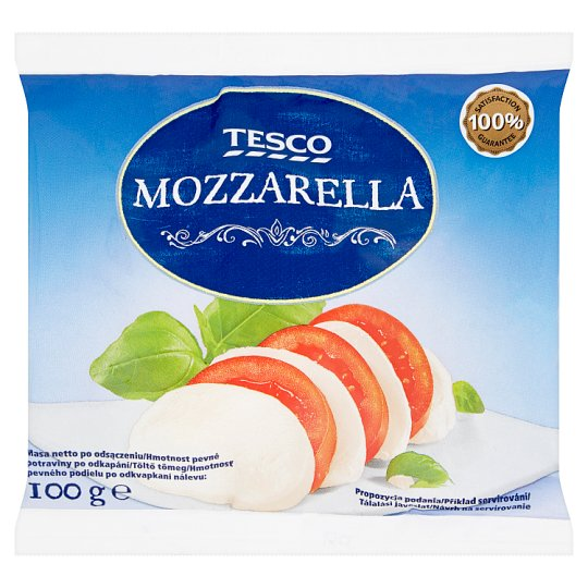 Tesco Mozzarella Heated-Kneaded Low-Fat Soft Cheese 100 g