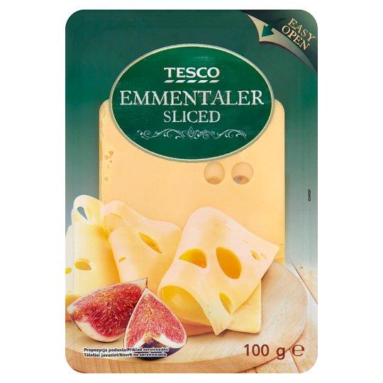 Tesco Sliced Emmentaler Cheese 100 g