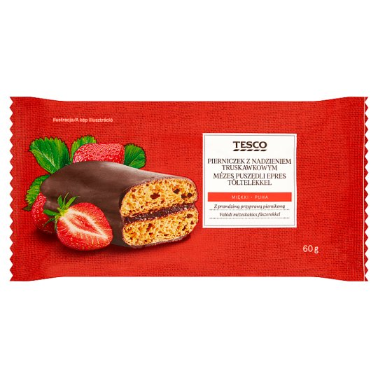 Tesco Honey Gingerbread with Strawberry Filling 60 g
