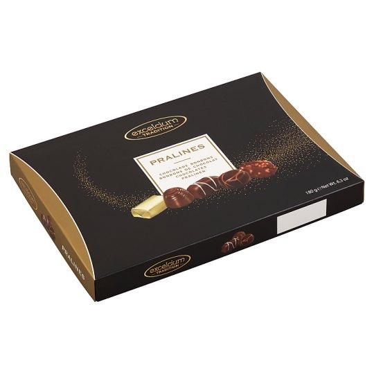 Excelcium csokoládé praliné válogatás 18 db 180 g