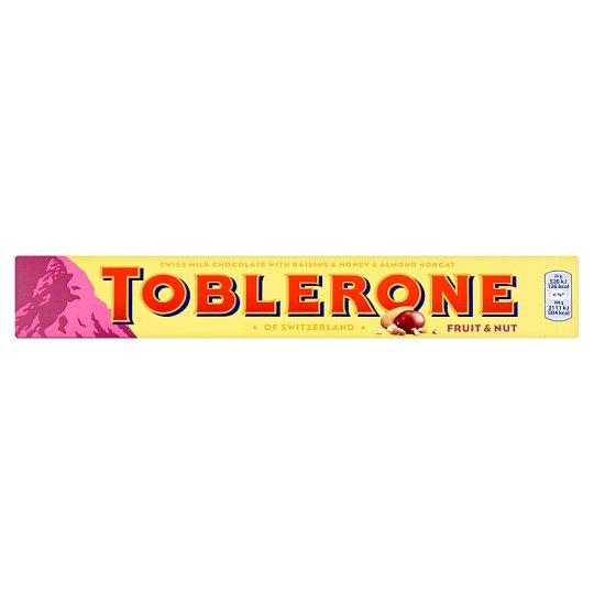 Toblerone svájci tejcsokoládé mazsolával, mézzel és mandulával 100 g