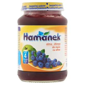 Hamánek Apple-Blueberry Dessert for Babies 4+ Months 190 g
