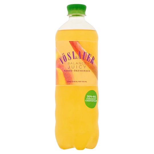Vöslauer Balance Juicy Mango-Peach Flavoured Carbonated Drink 0,75 l