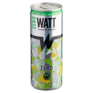 Watt Zero koffein és vitamintartalmú alma-körte ízű szénsavas energiaital édesítőszerekkel 0,25 l