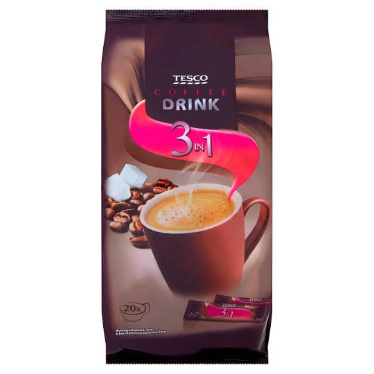 Tesco 3in1 Instant Coffee Drink Powder 20 pcs 360 g