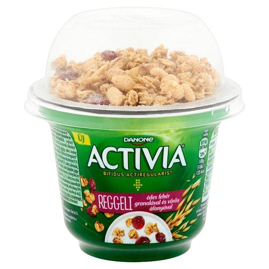 Danone Activia Reggeli Sweetened Yoghurt with Live Cultures, Granola and Cranberry Pieces 168 g