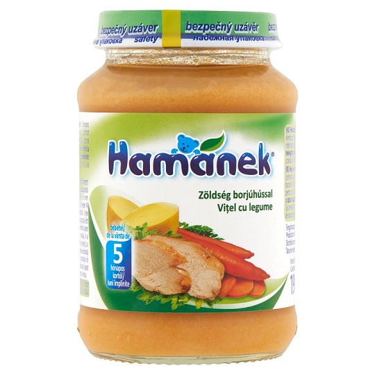 Hamánek Vegetable with Calf Food for Babies 5+ Months 190 g