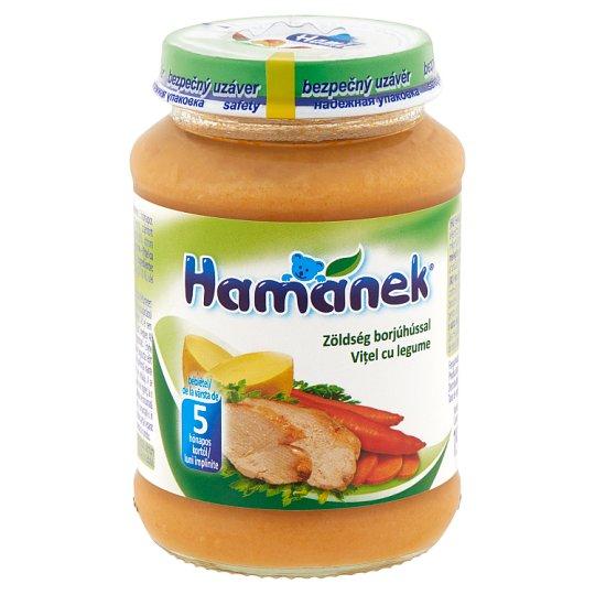Hamánek zöldség borjúhússal bébiétel 5 hónapos kortól 190 g
