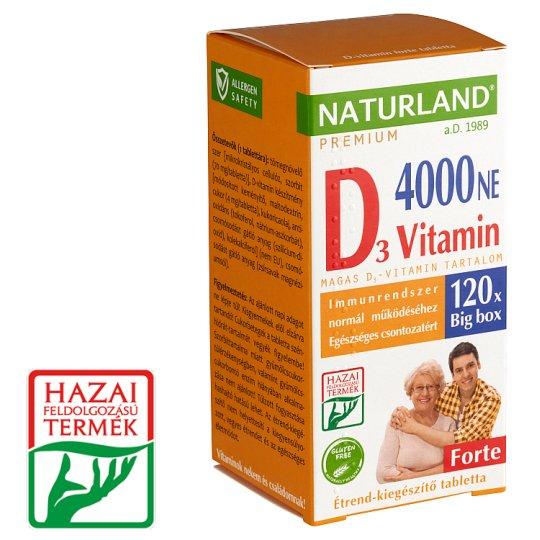 Naturland Premium Forte Vitamin D 4000 NE Food Supplement Tablets 120 pcs 22,02 g