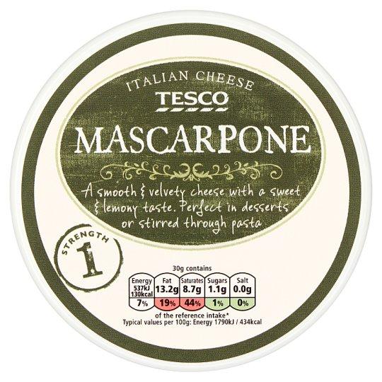 Tesco Mascarpone tejszínes, zsírdús friss krémsajt 250 g