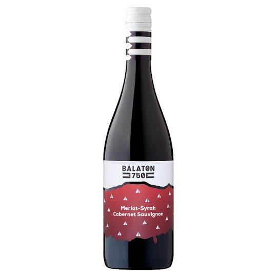 Balaton 750 Balatoni Merlot-Syrah-Cabernet Sauvignon száraz vörösbor 13% 750 ml