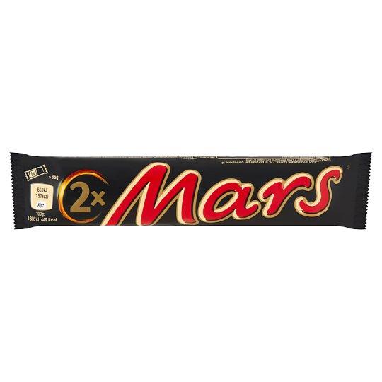 Mars karamellás kakaós krémes szeletek tejcsokoládéba mártva 2 db 70 g