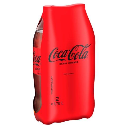 Coca-Cola Zero colaízű energiamentes szénsavas üdítőital édesítőszerekkel 2 x 1,75 l