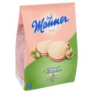 Manner Chocolate-Hazelnut Cream Filled Wafers 400 g