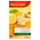 Milford Herbal Infusion Ginger-Lemon Herbal Tea 20 Tea Bags 40 g