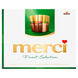 Merci Finest Selection 4 Chocolate Speciality with Almonds 250 g