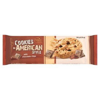 Cookies in American Style Crispy Biscuits with Chocolate 135 g