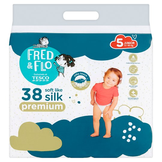 image 1 of Fred & Flo Premium 5 Junior 11-18 kg Nappies 38 pcs