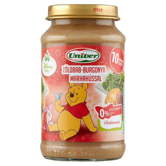 Univer Green Bean-Potato with Beef for Babies 10+ Months 220 g