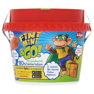 Sága Fini Mini & Go! mini pulykavirsli hozzáadott vitaminokkal és kalciummal 140 g