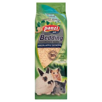 Panzi Rodent Green Apple Scented Wood Shavings Bedding for Rodents