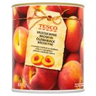 Tesco Peeled, Halved Peach in Syrup 820 g