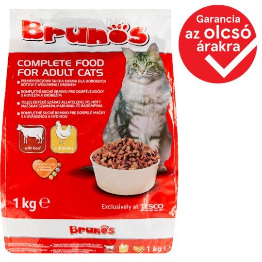 Brunos teljes értékű száraz állateledel felnőtt macskák számára marhával és baromfival 1 kg