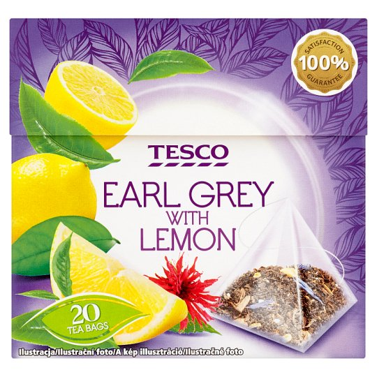 Tesco Earl Grey with Lemon Tea 20 Tea Bags 36 g