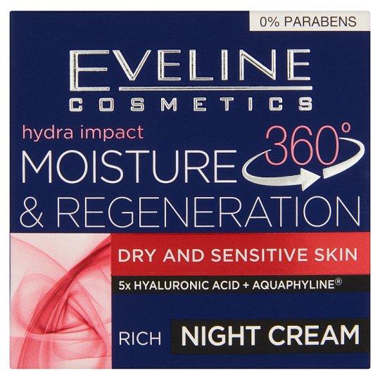 Eveline Cosmetics Hydra Impact 360° regeneráló, mélyhidratáló éjszakai krém 50 ml