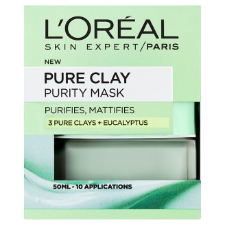 L'Oréal Paris Skin Expert Pure Clay tisztító maszk 50 ml