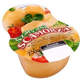 Szarvasi Smoked Scamorza Medium-Hard Semi-Fat Cheese 250 g