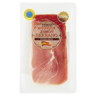 Tesco Jamón Serrano Raw, Dried, Mellowed Ham Slices 80 g