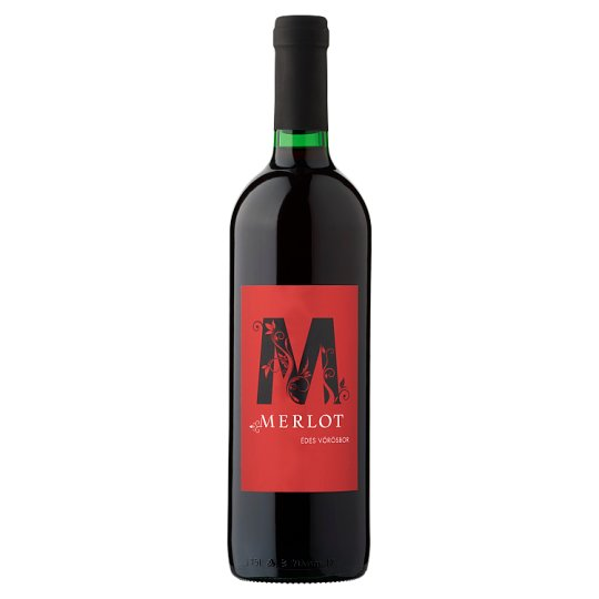 Merlot édes vörösbor 10% 750 ml
