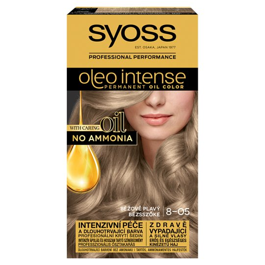 Syoss Color Oleo Intense Oil Hair Colorant 8-05 Beige Blonde
