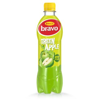 Rauch Bravo Green Apple Drink with Sugar and Sweeteners and 6 Vitamins 0,5 l