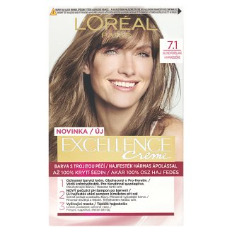 L'Oréal Paris Excellence Crème 7.1 Bloomy Blond Permanent Hair Colorant