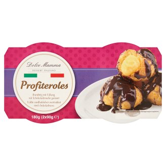 Dolce Mamma Profitelores Cream Filled Éclair with Chocolate Sauce 2 x 90 g