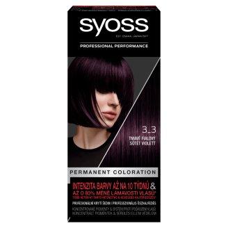 Syoss 3-3 Sötét Violett tartós hajfesték