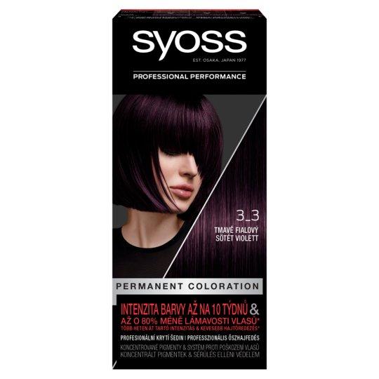 Syoss 3-3 Dark Violet Permanent Hair Colorant