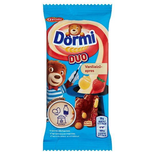 Dörmi DUO Soft Sponge Cake with Strawberry Filling and Vanilla Flavoured Cream 30 g