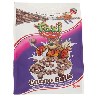 Foxi Premium Cocoa Flavoured Puffed Cereal Balls 500 g