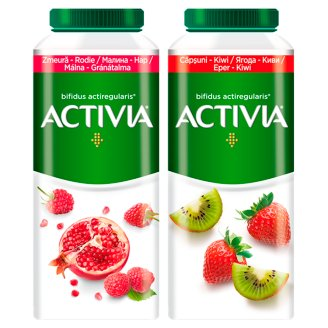 Danone Activia Low-Fat Raspberry-Pomegranate Flavoured Yoghurt Drink with Live Culture 320 g