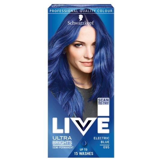 Schwarzkopf Live hajszínező 95 Vibráló kék - Tesco Bevásárlás e49ce03ef9