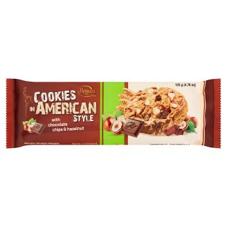 Cookies in American Style Crispy Biscuits with Hazelnut and Chocolate 135 g